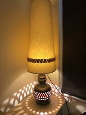 Vintage Mid Century West German Fat Lava Floor Lamp With Original Lampshade