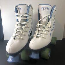 Women's RTS 400 Roller Derby Roller Skates Boardwalk Wheels White/Blue Size 10