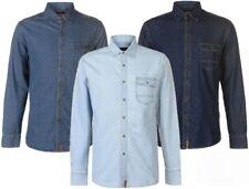 ✅ PIERRE CARDIN Herren Hemd langarm Jeanshemd Denim Long Shirt Freizeithemd NEU