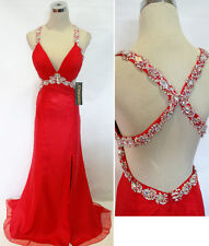 NWT NINA CANACCI 4001 RED $298 Pageant Prom Gown 10