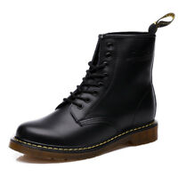 Men's Boots Leather Martin boots  Women's Winter Ankle Boots Shoes Lace Up