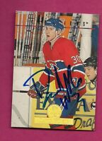 MONTREAL CANADIENS DAVID WILKIE   AUTOGRAPH CARD (INV# A7665)