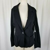 Karen Kane Lifestyle Blazer with Pockets Jersey Knit Black Jacket Womens L NWT