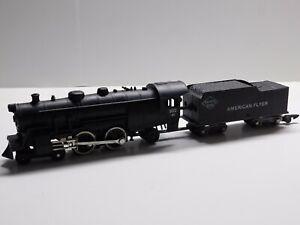 S Gauge American Flyer Reading Line 4-4-2 Steam Locomotive & Tender Train 302 AC