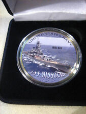 US NAVY - USS Missouri (BB-63) Challenge Coin w/ Presentation Box