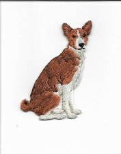 Basenji Dog Applique Embroidered Iron-on Patch 150413