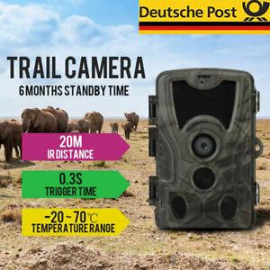 Mini Wildkamera 20 MP Außenkamera FHD 1080P Nachtsicht Jagdkamera Wildtierkamera