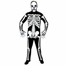 Mens Skeleton Jumpsuit Halloween Costume Fancy Dress Outfit Adult Standard Size