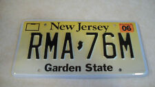 2006 New Jersey license plate