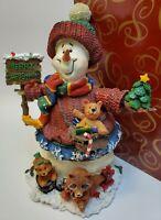 Snowman Christmas Medley The San Francisco Music Box Company Musical Figurine