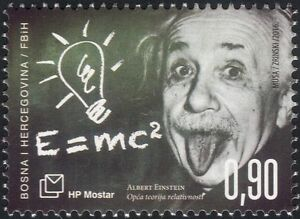 Bosnia Herzegovina 2016 Einstein/Space/Science/Mathematics/People 1v (b2756a)