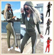 Damen Trainingsanzug Hausanzug Hoodie Sweatshirt Hose Sport Fitness Jogginganzug