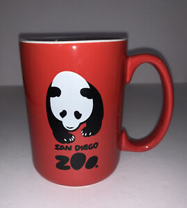 San Diego Zoo Giant Panda Coffee Mug Tea Cup Red Logo Large California CA
