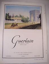 Full Page 1953 Vintage French Perfume Magazine Advert - Guerlain Horse Paris