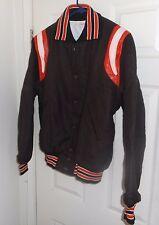"NOS! ""GEM"" Brown Wool + Red White Leather! HOTROD Varsity LETTERMAN Greaser LXL"