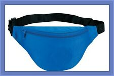 10 Pk Fantasybag Royal Blue 2-Zipper Fanny Pack
