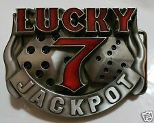 LUCKY 7 JACKPOT BUCKLE EXTENT DESIGNS & QUALITY AMAZING STYLES NEW FAST SHIPPING