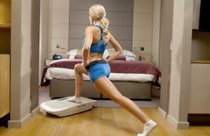 E&m Active Maxburn Fitness Plate with Built-in LCD Screen & Speaker-White
