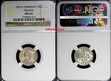 German States PRUSSIA Wilhelm I Silver 1872 A 1 Groschen NGC MS64 KM# 485