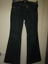 N62) WOMENS LOVELY BLUE RIVER ISLAND BOOTCUT  JEANS ZIP FLY  SIZE 10   LEG 31