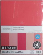 "Recollections Cardstock Paper 8 1/2"" x 11"" 50 Sheets 65 lb 5 Color Flamingo"
