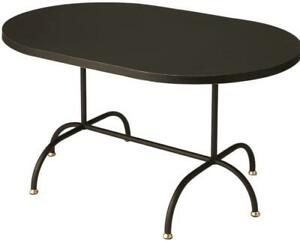 COFFEE TABLE COCKTAIL MODERN CONTEMPORARY 6-LEG BASE DISTRESSED BLACK GOLD