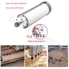 2.2KW ER20 Spindle Motor Air-Cooled+Collets 24000RPPM 400HZ for Milling Grinding