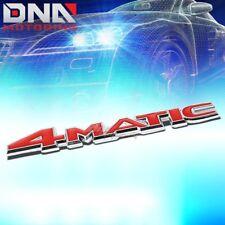 FOR MERCEDES 4-MATIC STICK ON 3D CHROME RED AUTO METAL EMBLEM TRIM BADGE LOGO