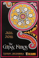 GIPSY KINGS Fever Of Flamenco Passion Of The Gipsy ORIGINAL 1988 Fillmore poster