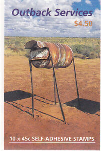 2001 Outback Services Stamp Booklet (SB143) - General Barcode