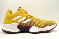 Adidas Pro Bounce 2018 Mustard Yellow Mesh Athletic Sneakers Shoes Men's 14