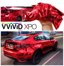 Vvivid 10ft x 5ft Red supercast chrome vinyl car wrap decal