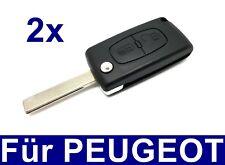 2x 2Tasten Ersatz Klappschlüssel Gehäuse für PEUGEOT 207 307 407 308 BOXER