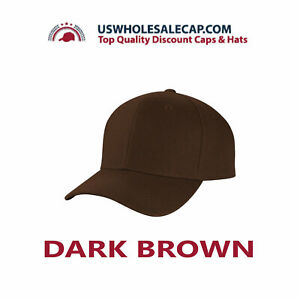 Top Level Plain Polyester Fitted Size Baseball Cap Hat 10 sizes Fitted Hat