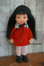 KELLY CLUB JENNY in a Red Spotted Coat Dress with Accessories