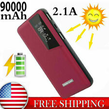90000mAH portable Power Bank Backup External USB Battery Charger For Cell Phone