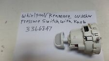 Whirlpool/Kenmore Washer Pressure Switch 3366847 With Knob Free Shipping.