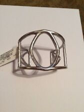 $35.50 Lucky Brand Large Silver Tone Diamond  Bangle  833a