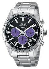 LNP RT351DX9 Lorus Uomo Gents Cronografo Bracciale in acciaio inossidabile orologio