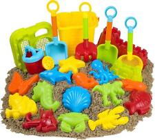 23pc Beach Sand Mold Sets Spade Rake Kits Sand Building Molds Pit Toy Kid Gifts