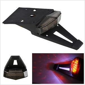 Motorcycles ATV Fender LED Brake Stop Lamp Rear Tail Light Waterproof Smoke Lens