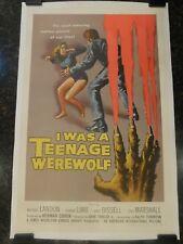 I WAS A TEENAGE WEREWOLF Original 1957 Movie Poster, C8.5 Very Fine/Near Mint