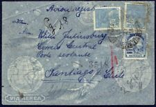 4009 BRAZIL TO CHILE REGISTERED AIR MAIL COVER 1940 RIO - VALPARAISO