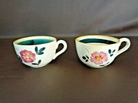 Set Of Two Stangl Pottery Garden Flower Flat Cups (#14B029)