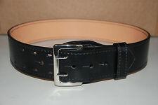 NEW Galls Leather G-4145 Black Sam Brown Duty Belt w/Nickel Buckle Size 30