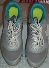 z- SHOES WOMENS SZ 8 NIKE FREE XT GRAY / TURQUOISE RUNNING JOGGING