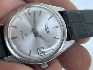 VERY RARE 1960's LONGINES PRESTIGE ORIGINAL DIAL STAINLESS STEEL /W DATE RUNS