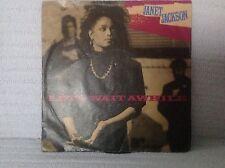 "PC 7"" Single Janet Jackson - Let's Wait A While Prof Jimmy Jam Terry Lewis 1986"