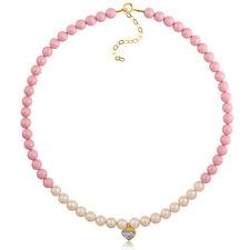 Swarovski Pearls Pastel Heart Kids Necklace