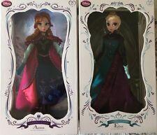 "2 FROZEN DOLL LIMITED EDITION LE 5000 SNOW ANNA & CORONATION ELSA Disney 17"""